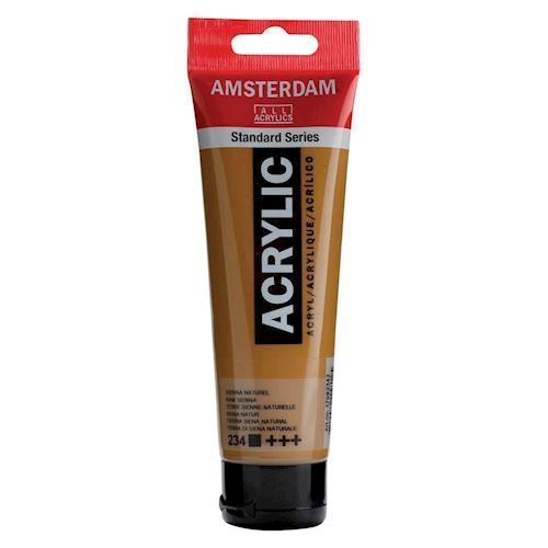 Image of   Amsterdam Akryl maling, Sienna Natural, 120ml