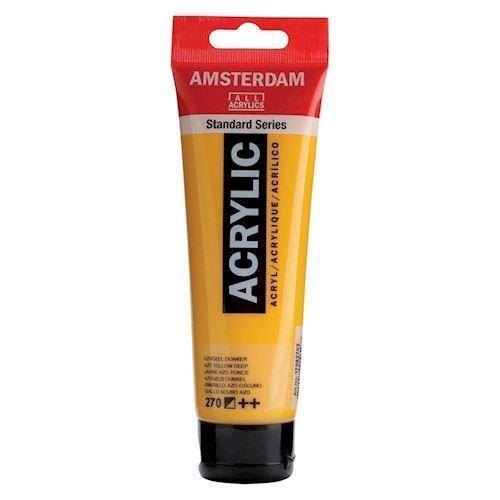 Image of   Amsterdam Akryl maling, Azogel mørk gul, 120ml