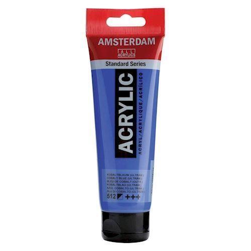 Image of   Amsterdam Akryl maling, Cobalt blå, 120ml