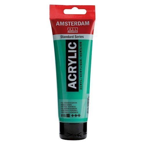 Image of   Amsterdam Akryl maling, smaragd grøn, 120ml
