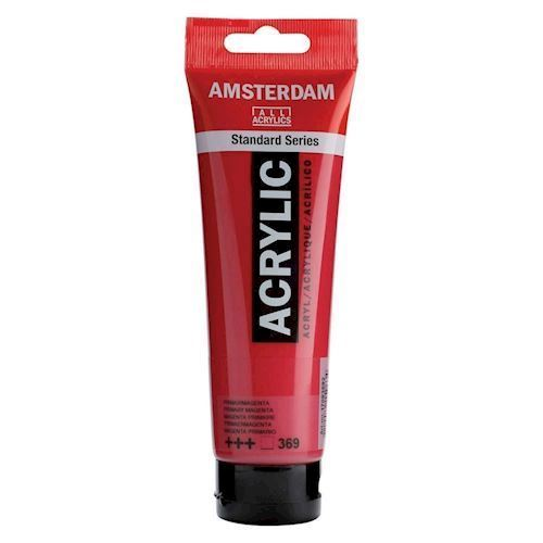 Amsterdam Akryl maling, Prima Magenta, 120ml