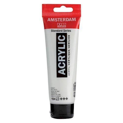 Image of   Amsterdam Akryl maling, Zink hvid, 120ml