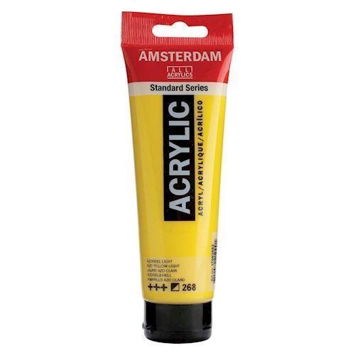 Image of   Amsterdam Akryl maling, lys gul, 120ml
