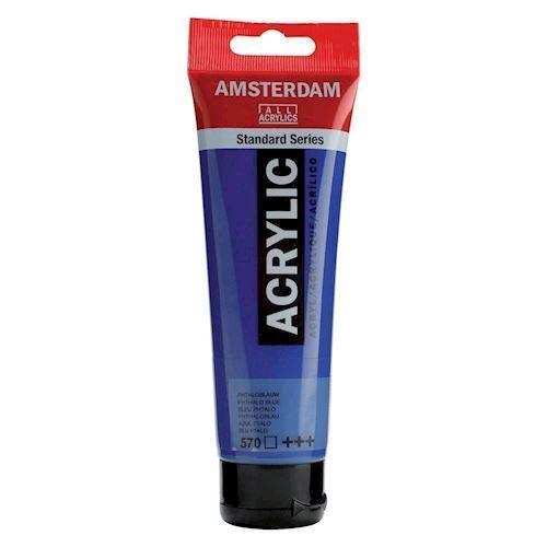 Image of   Amsterdam Akryl maling, Phthalo blå, 120ml