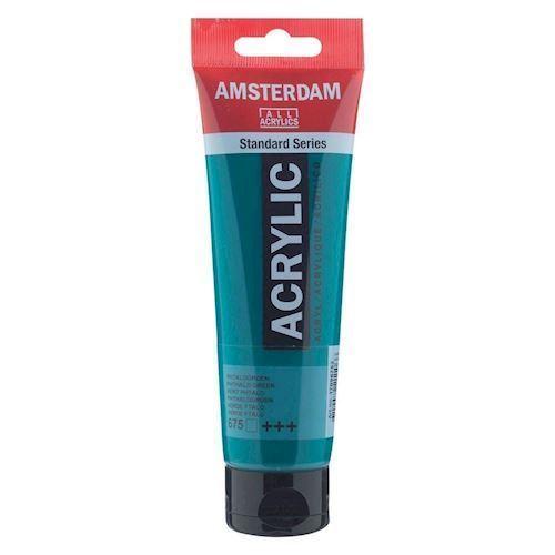 Image of   Amsterdam Akryl maling, Phthalo grøn, 120ml
