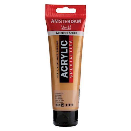 Image of   Amsterdam Akryl maling, mørk guld, 120ml
