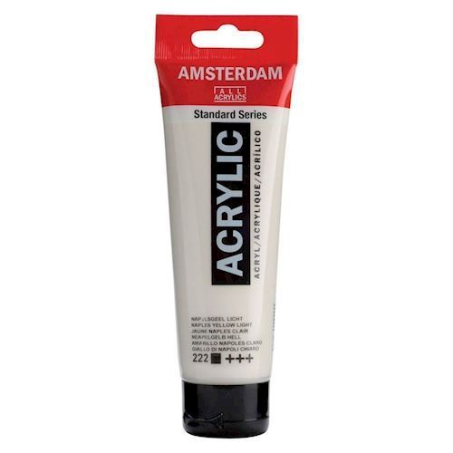 Image of   Amsterdam Akryl maling, Naples lys gul, 120ml