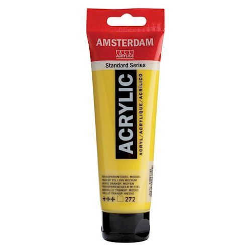 Image of   Amsterdam Akryl maling, Transparent gul, 120ml