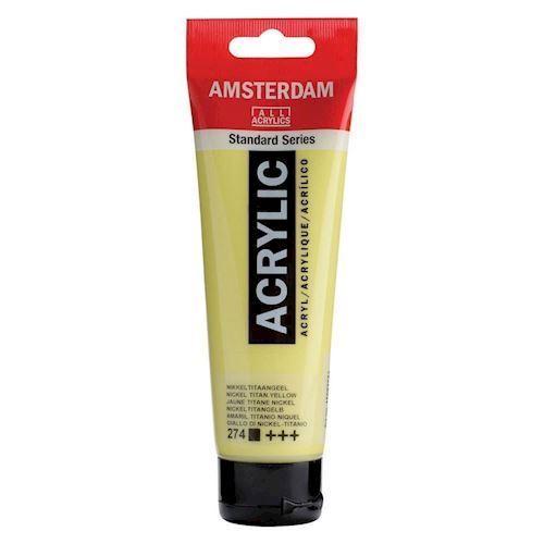 Image of   Amsterdam Akryl maling, nikkel titan gul, 120ml