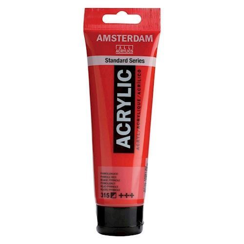 Image of   Amsterdam Akryl maling, rød, 120ml