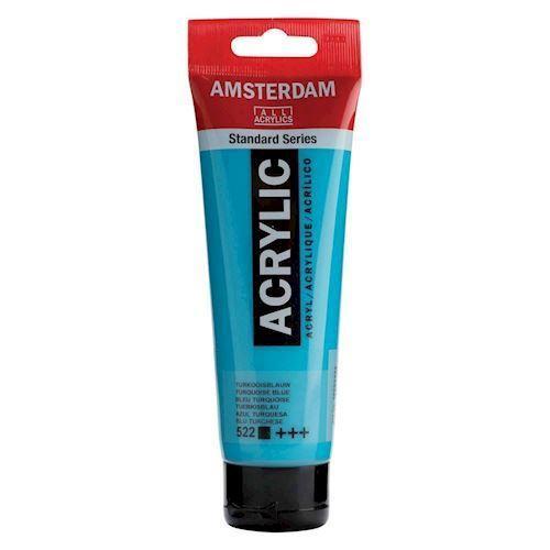 Image of   Amsterdam Akryl maling, tyrkis blå, 120ml