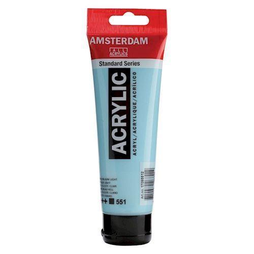 Image of   Amsterdam Akryl maling, lys blå, 120ml