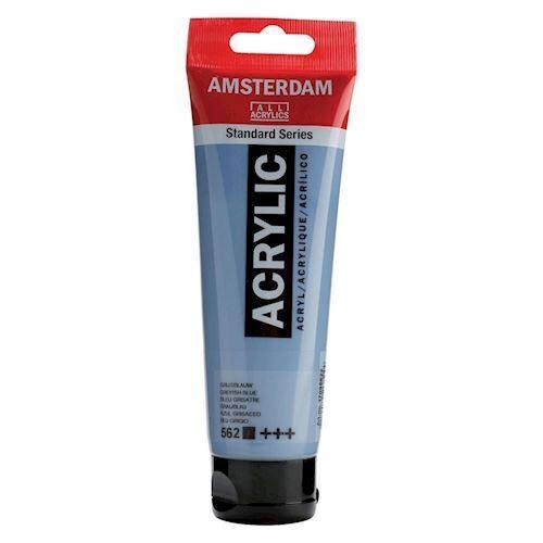 Image of   Amsterdam Akryl maling, grå blå, 120ml