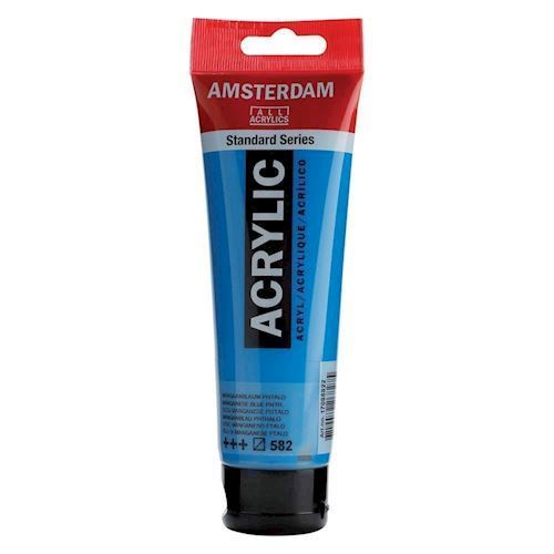 Image of   Amsterdam Akryl maling, blå, 120ml