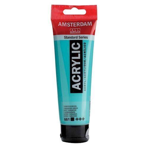 Image of   Amsterdam Akryl maling, tyrkis grøn, 120ml