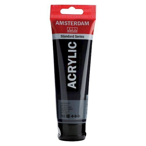 Image of   Amsterdam Akryl maling, sort, 120ml