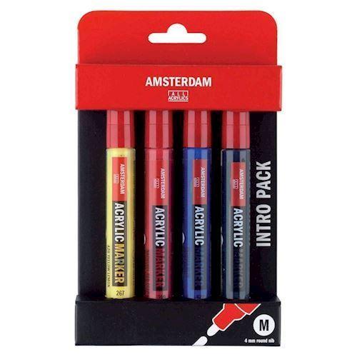 Image of   Amsterdam Akryl tusser, 4 stk