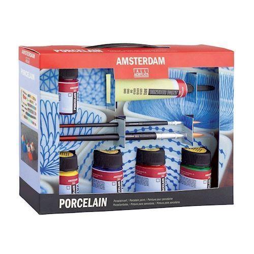 Image of   Amsterdam, porcelæn male startsæt