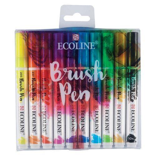 Image of   Ecoline Brush Pen, 10 stk