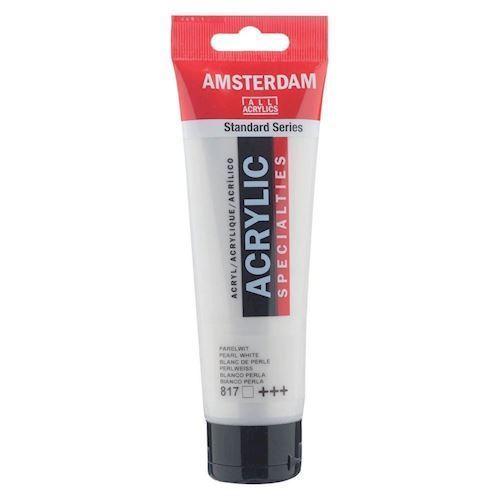 Image of   Amsterdam Akryl maling, perle hvid, 120ml