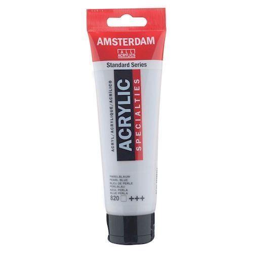 Image of   Amsterdam Akryl maling, perle blå, 120ml