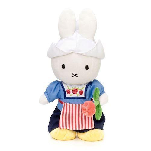 Image of Miffy bamse med bondepige tøj 24cm (8712269010035)