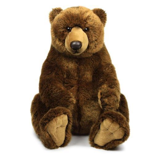 Image of WWF Plush-Grizzly Bear sitting, 47 cm (8712269145843)
