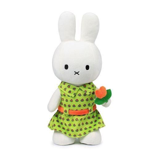 Image of Miffy, bamse med blomsterkjole 34cm (8712269150717)