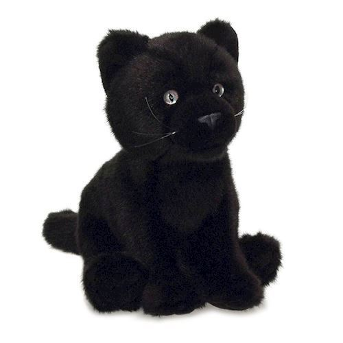 Image of WWF Plush-Black Panther, 15 cm (8712269168408)