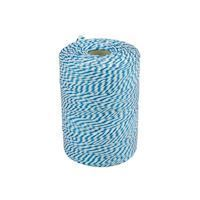 Rope 45meter cotton 50gr blue/white