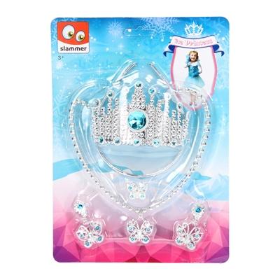 Image of   Is Prinsesse, krone & juveler