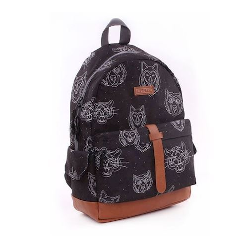 rygsæk, sort