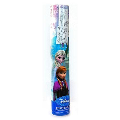 Image of   Disney, Frozen/Frost - Mal din egen plakat, 3 X A3