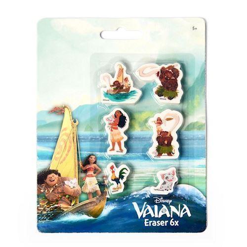 Image of   Viskelæder, Disney Vaiana , 6 stk.