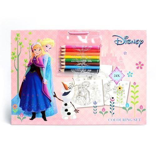 Image of   Disney, Frozen/Frost - malebog med 8 tusser