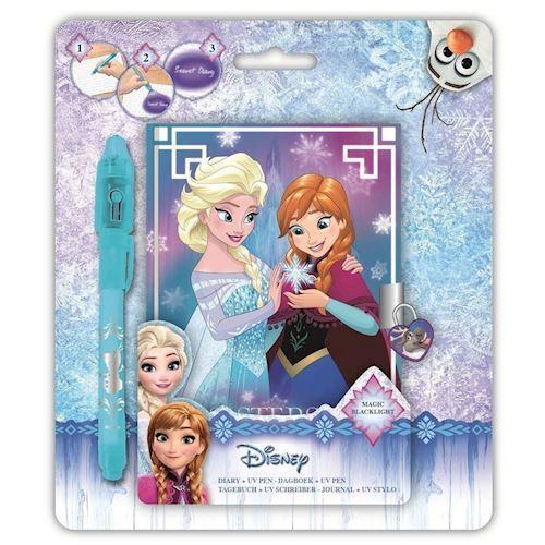 Image of   Disney, Frozen/Frost - Hemmelig dagbog med UV Pen