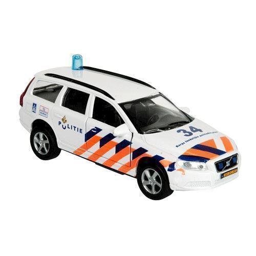 Image of Politibil, Volvo V70 med lys og lyd, legetøjsbil (8713219229668)