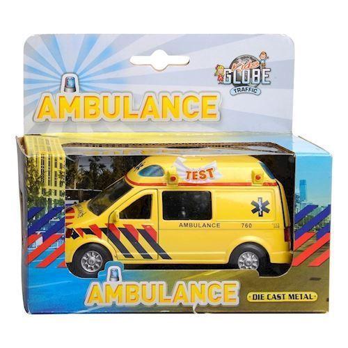 Image of Ambulance med lyd og lys, Legetøjsbil