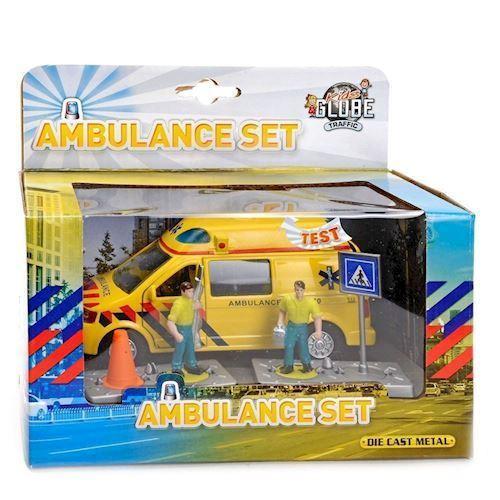 Image of   Træk og slip ambulance, legetøjsbil