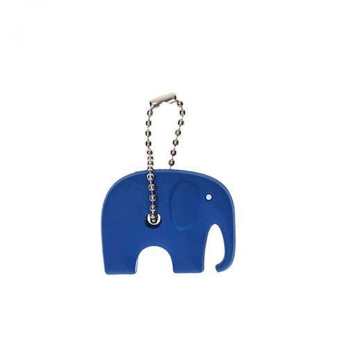 Silikone nøglering, elefant, blå