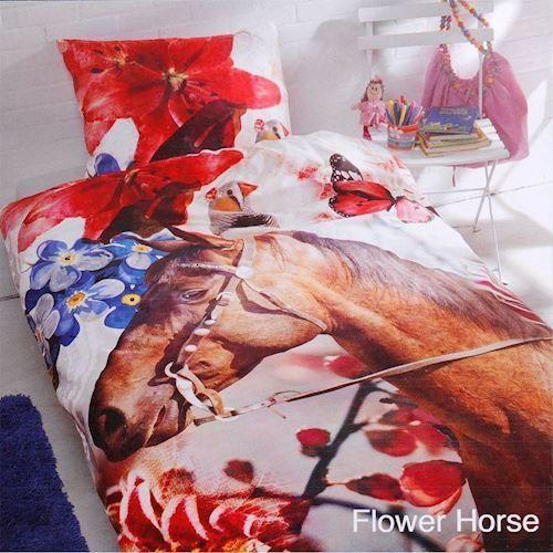 Image of Duvet Cover Flower Horse (8714305056960)