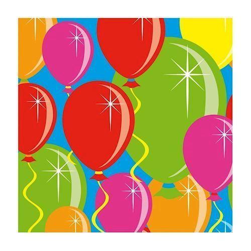 Servietter, balloner, 16 stk