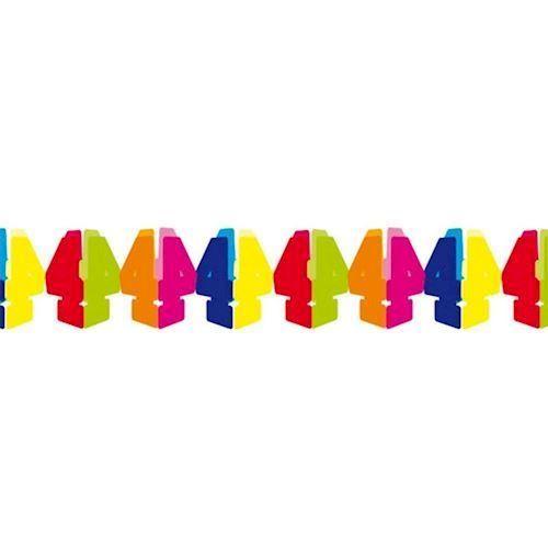 Guirlande, fødselsdag,  4 år