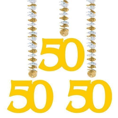 Image of Hang decoration-50 years, 3pcs.