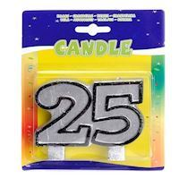 Birthday candle-25 years
