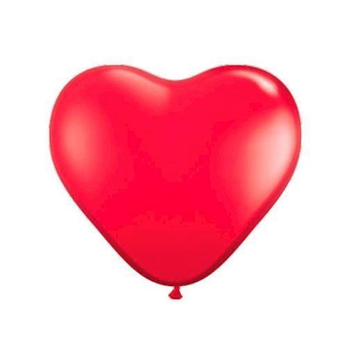 Hjerte balloner, rød, 8 stk