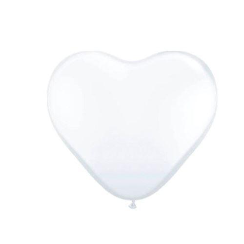 Hjerte balloner, hvid, 8 stk