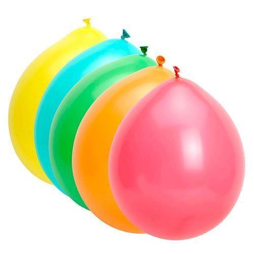 Farvede balloner, 10 stk