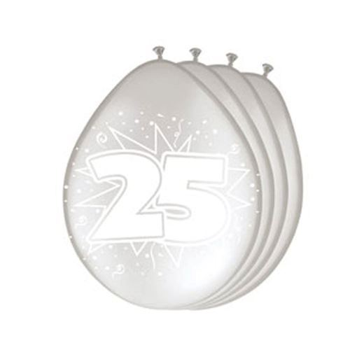 Image of   Balloons 25 years silver, 8pcs.