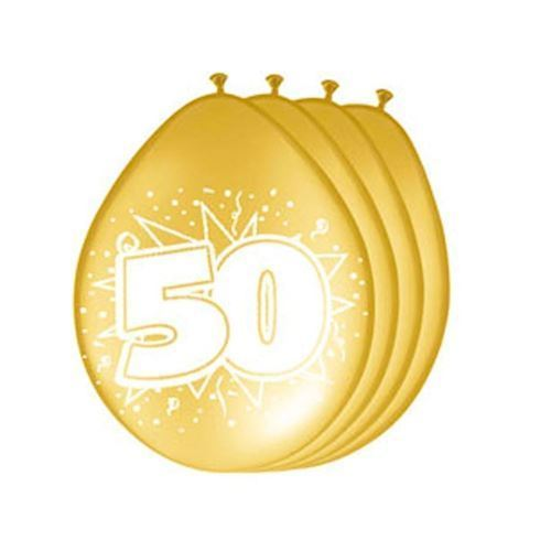 Image of   Balloons 50 years gold, 8pcs.